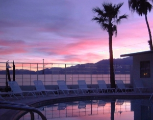 Sunset at Living Waters Spa