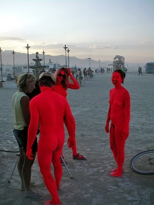 Burning Man Naked Freedom