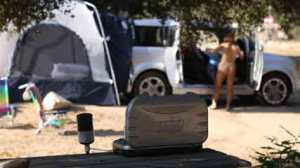 camping naked, nude resort in california